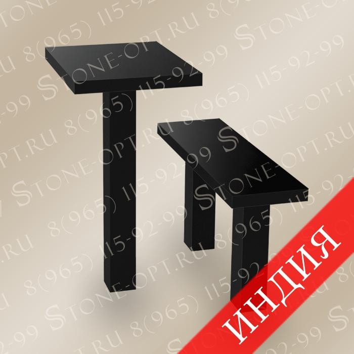 Стол и лавочка прямые L-1