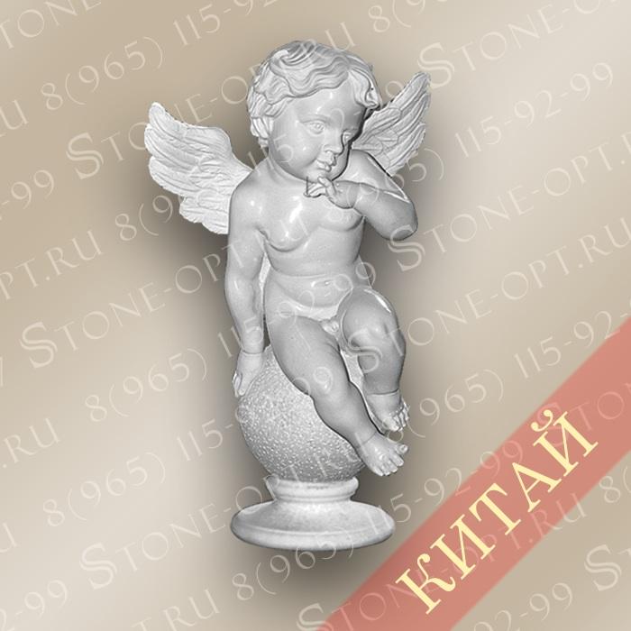 Ангел из розового мрамора SA-02