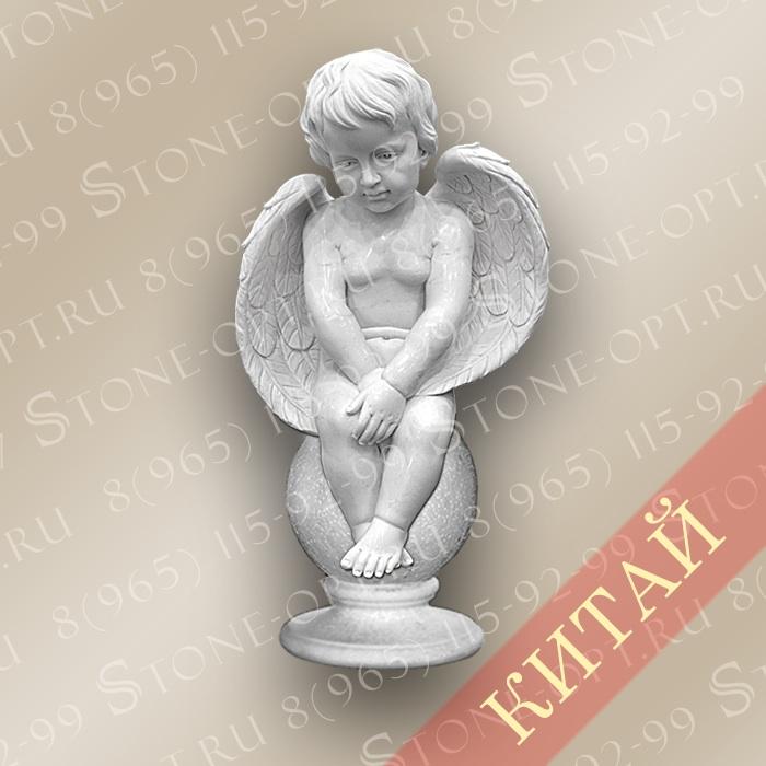 Ангел из белого мрамора SA-06