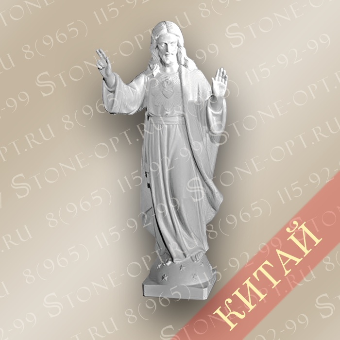 Иисус из белого мрамора SJ-02