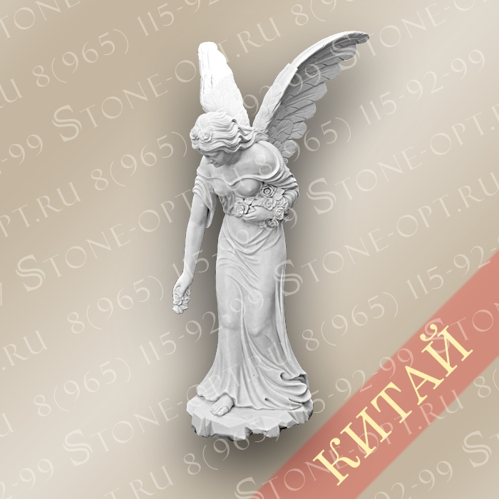 Ангел из белого мрамора SA-25