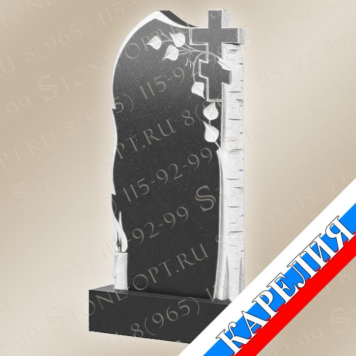 Берёза со свечой и крестом КВ0500