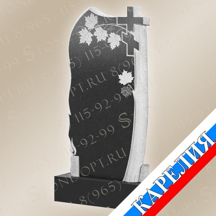 Клён со свечой и крестом КВ0503