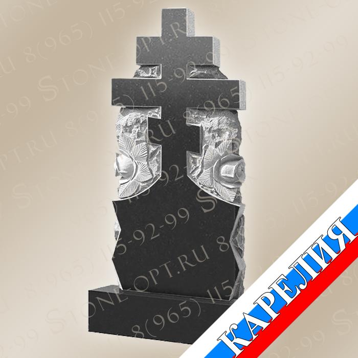 Крест две розы КВ0671